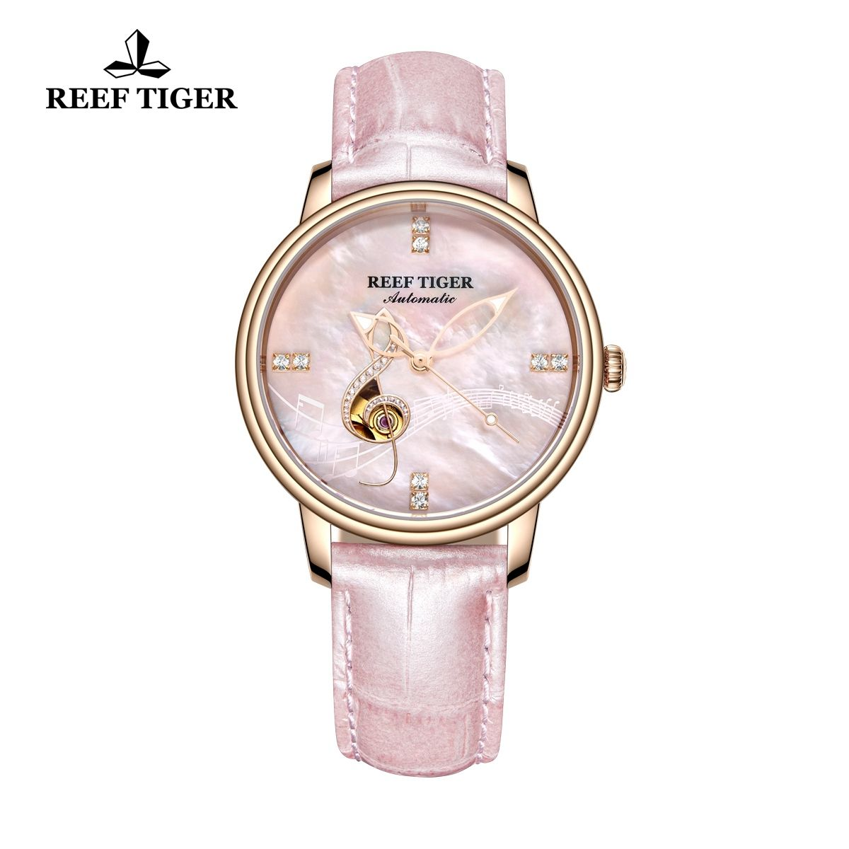 womens designer rose gold watches